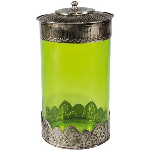 LODSH glazen pot vintage green (10208)