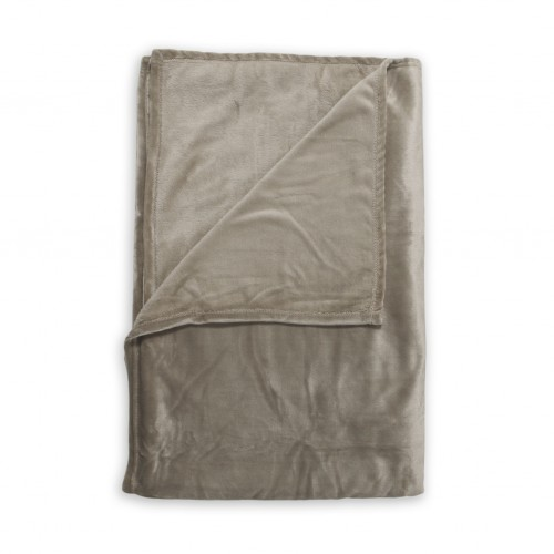 Zo! Home Fleece plaid Cara 140x200 (deep taupe)