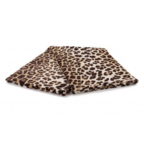 Zo! Home Fleece plaid Leopard 140x200 (bruin)