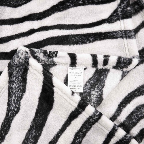 Zo! Home Fleece plaid Zebra 140x200 (zwart-wit)