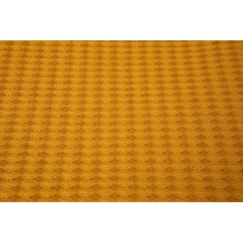Kayori bio-katoenen Waffle plaid Nagi (okergeel)
