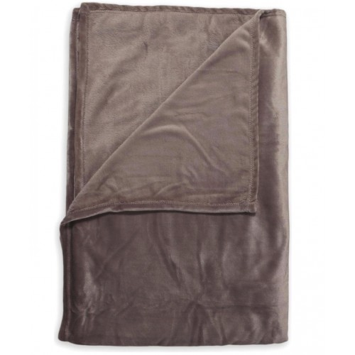 Zo! Home Fleece plaid Cara 140x200 (ash brown)