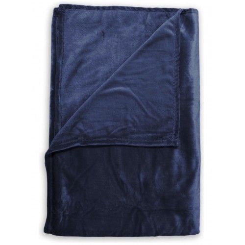 Zo! Home Fleece plaid Cara 140x200 (indigo blue)