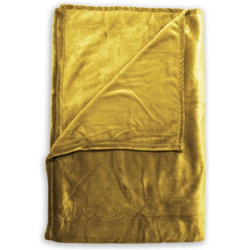 Zo! Home Fleece plaid Cara 140x200 (honey gold)