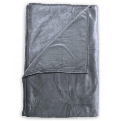 Zo! Home Fleece plaid Cara 140x200 (seal grey)