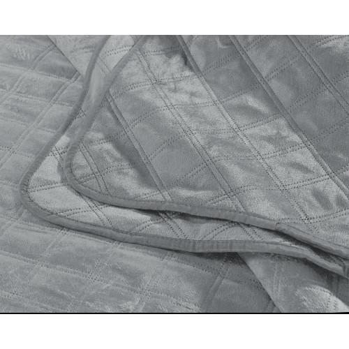 DreamHouse Velvet Classico bedsprei grijs
