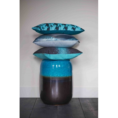 KAAT sierkussen Ethan (aqua blauw, 43x43cm)
