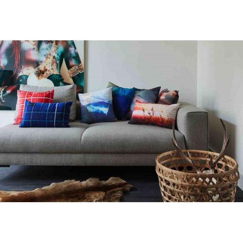 KAAT sierkussen Rasterize (blauw, 30x50cm)