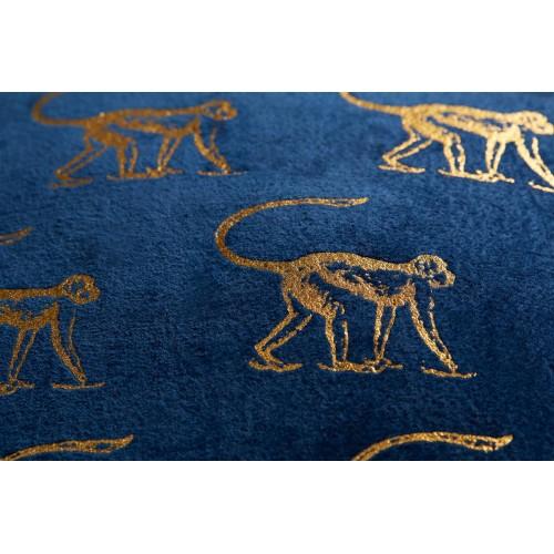 KAAT sierkussen Monkey (blauw, 40x40cm)