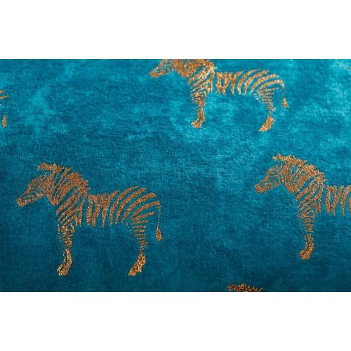 KAAT sierkussen Zebra (blauw, 30x50)